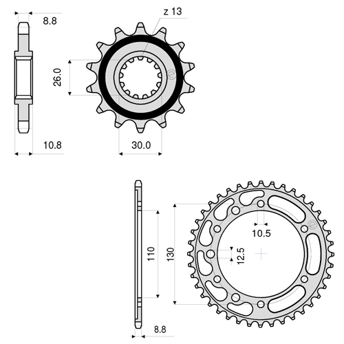 kit trasmissioni moto  kit trasmissione catena corona