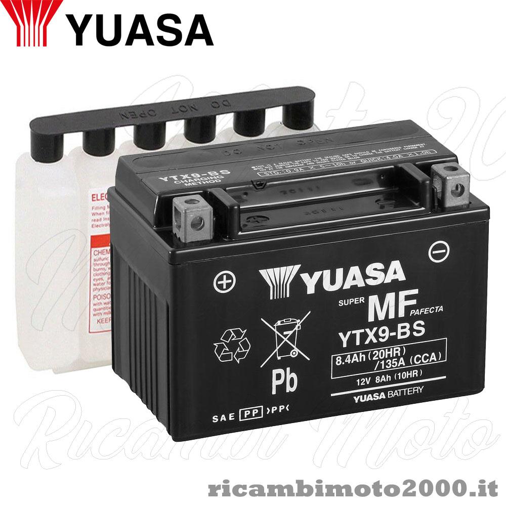 BATTERIA RIDER 12V 8AH YTX9-BS KYMCO DINK 4T DD E3 125 2006 2007 2008 2009 2010