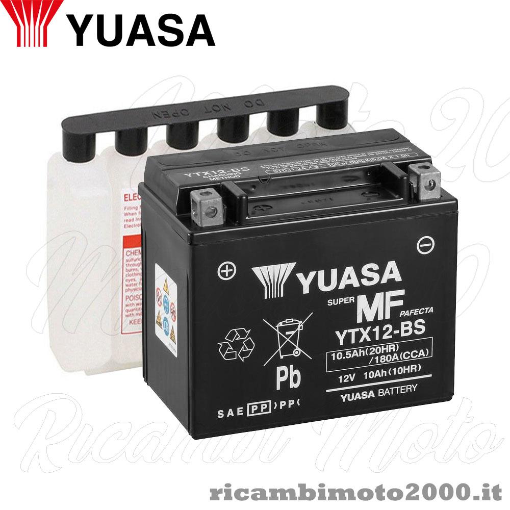 Batteria ELEKTRA YTX12-BS 12V-10Ah MF per YAMAHA YZF 600 R Thunder Cat dal 1995