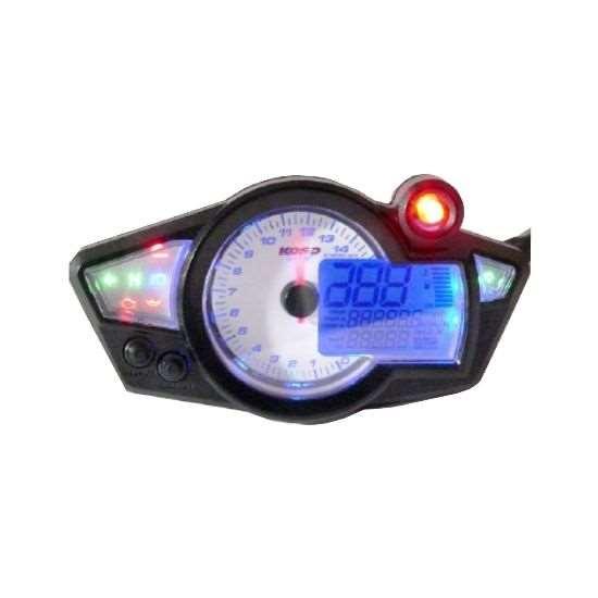 display digitale LCD universale per moto Contachilometri contagiri Contagiri Misuratore carburante Tachimetro LCD per moto